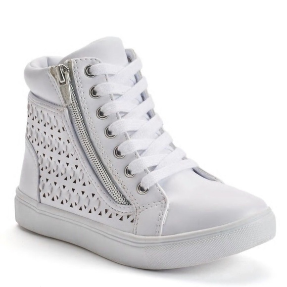 Hightop Zipper Tennis Shoes Size